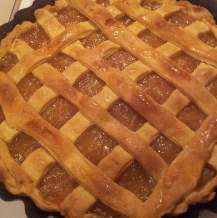 Лесен и бърз ябълков пай