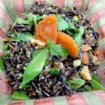 Двуцветна оризова салата