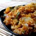 Запеканка с ориз и картофи