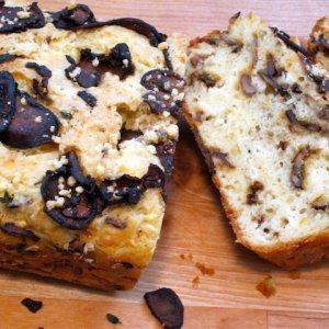 Солен кекс с гъби и маслини