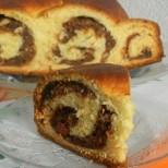 Италианска Губана - пухкав козунак с изумително вкусна плънка от шоколад и много ядки