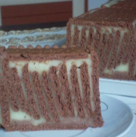 Вертикална бисквитена торта - супер ефект за нула време, без печене и разбиване. Истински интернет-хит!