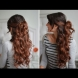Как да си направим: много сладка полувдигната прическа с големи къдрици (Видео)