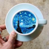 Рисунки върху кафе, които са истински шедьовър