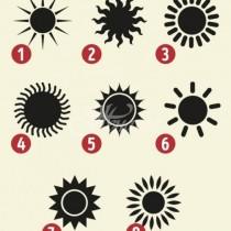 Слънцето, което изберете, ще покаже много важни черти на личността ви