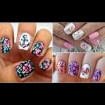 Цветни нокти: 10 идеи за летни маникюри с цветя (Снимки)