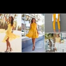 Лято в жълто: Неустоими модни комбинации за лято 2018 (Снимки)