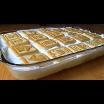Най- лесната и бърза бисквитена торта с банани