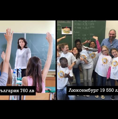 Какви са учителските заплати в различните страни по света