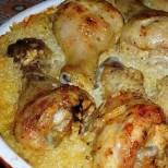 Мързеливо пиле с ориз. Слагаш всичко в тавичката и то се готви само, докато ти си гледаш любимия сериал