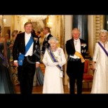 Холандските крал и кралица на гости на кралица Елизабет II