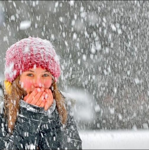 Минус 15 градуса и сняг идат!