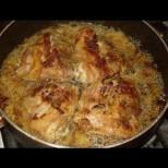 Пиле под капак - няма спиране, докато не отопиш и соса с хлебче!