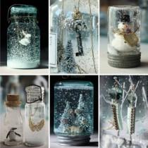 Как да си направим снежна приказка в бурканче: бързо ръководство и много идеи (снимки)