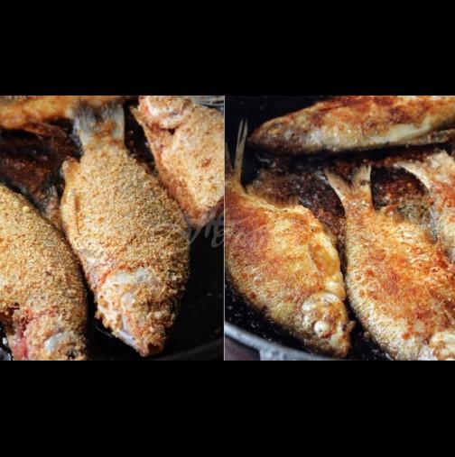 Костите ще се препекат и разтворят, ако приготвите пържената рибка така: