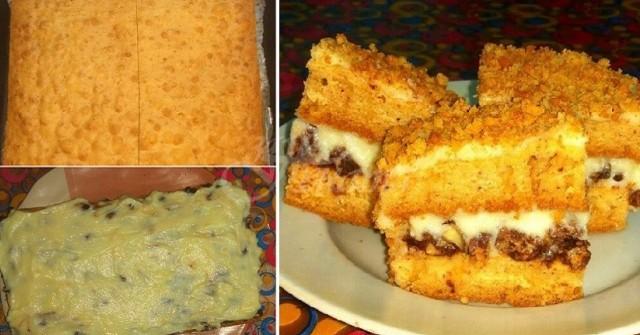 Кексче орехово чудо-1,2,3 очите затвори, парче хапни и за проблемите забрави