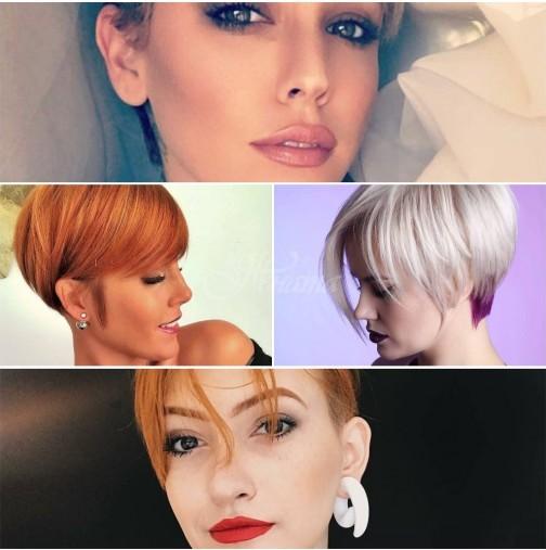 Стилистите решиха-Късите прически с бретон за блондинки и брюнетки, каре и боб са новият тренд