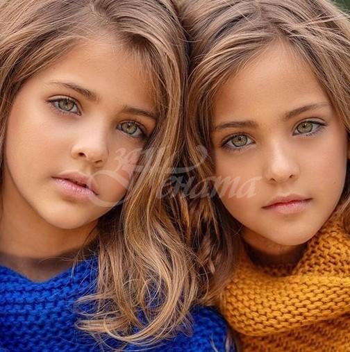 Ето близначките, смятани за наричани най-красивите момичета на света