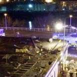 Полицейски хеликоптер се разби върху заведение - 3 загинали - Видео