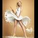 Уникални снимки на момичета с рокли от мляко