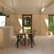 Модерна къща с изолация, направена от водорасли