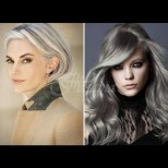 Сребро в косите - последният писък на модата. Сол и пипер, калифорнийско сиво - ето най-желаните нюанси (Снимки):