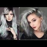 Най-модерните нюанси на сивото в косите - олово, калифорнийско сиво или сол-пипер: