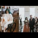 Булката, която дойде на собствената си сватба в инвалидна количка, а после трогна всички до сълзи:
