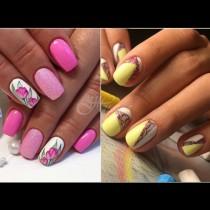 Пролетта оживява върху ноктите: 30+ цветни маникюра за цветно настроение