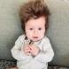 Бебе с огромна коса покори мрежата! /СНИМКИ/