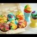 Боядисване на яйца за Великден-Яйца с цветовете на дъгата