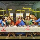 Картината Тайната вечеря символизира зодиите-Ето коя зодия е Юда, предателят