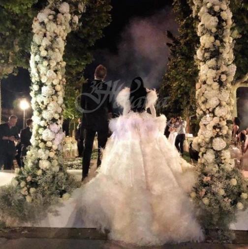Снимки от пищната сватба на Цеци Красимирова в старинен замък