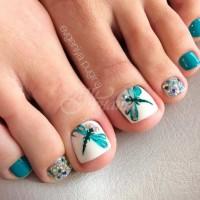 Цветни идеи за летен педикюр - красива до пръстчетата на краката (Снимки):