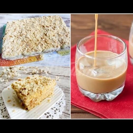 1 пакет бисквити, 2 пакетчета пудинг и чашка Бейлис - тайната на най-вкусната бисквитена торта на света!