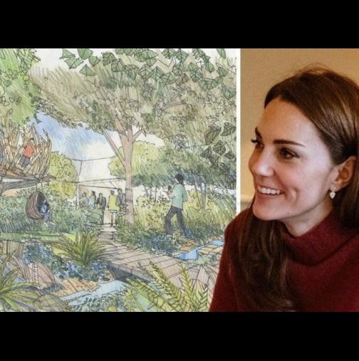 Тези снимки от градината на Кейт Мидълтън накараха всички да онемеят - херцогинята е направила райско кътче в дома си! (Снимки):