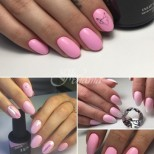 Красив маникюр в бледо розов цвят