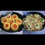 Малко кайма, зеленчуци каквито имам и няколко спагети и перфектната вечеря е готова