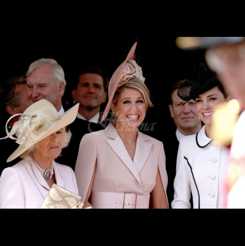 Коя от коя по-красиви: Кейт, кралица Летисия и Камила в състезание по грация и елегантност. Коя е най-хубава? (Снимки):