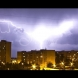Мощна гръмотевична буря удари София! От небето се излива порой!