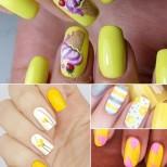 Жълт маникюр идеи-Очарователни са и отиват на повечето жени, особено в комбинация с друг цвят