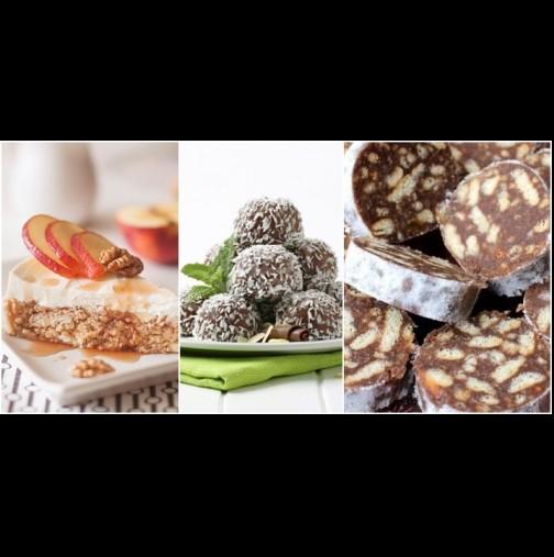 1 пакет бисквити = 3 любими десерта от детството. Без печене, само забъркваш, охлаждаш и хапваш с наслада: