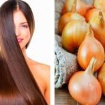 Червен лук за блестяща и здрава коса, предотвратява и пърхота