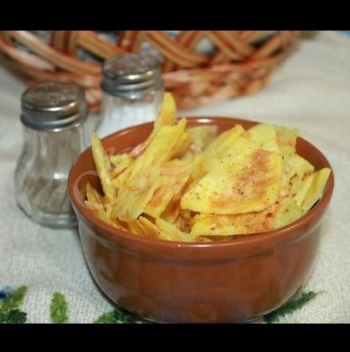 Домашен чипс за 10 минути - без фритюрник, без тиган, супер хрупкав и здравословен: