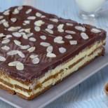 Лесна, бърза и вкусна бисквитена торта-  Млечен път (Видео)