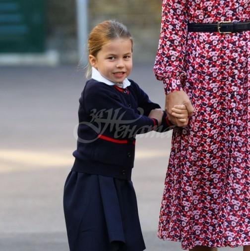 Сладката принцеса Шарлот се сдоби с нов прякор в училище - при това много й отива: