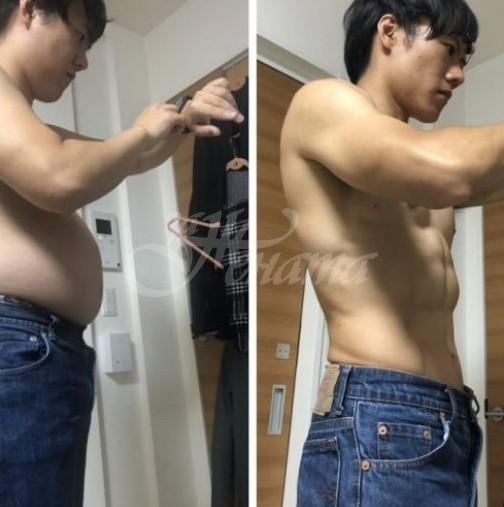 5 месеца бяха достатъчни на млад мъж да се промени с 4-минутно упражнение