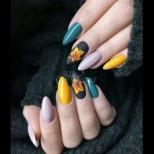 23 красиви вълшебства с есенни листа за всеки вкус и всяка дължина на ноктите (Снимки):