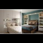 Как да спечелим още място в миниатюрната спалня - 7 гениални идеи, с които ще съберем двойно повече (Снимки):