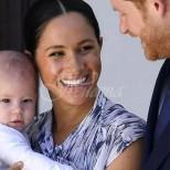 Загадъчна жена се появи с принц Хари, Меган Маркъл и Арчи